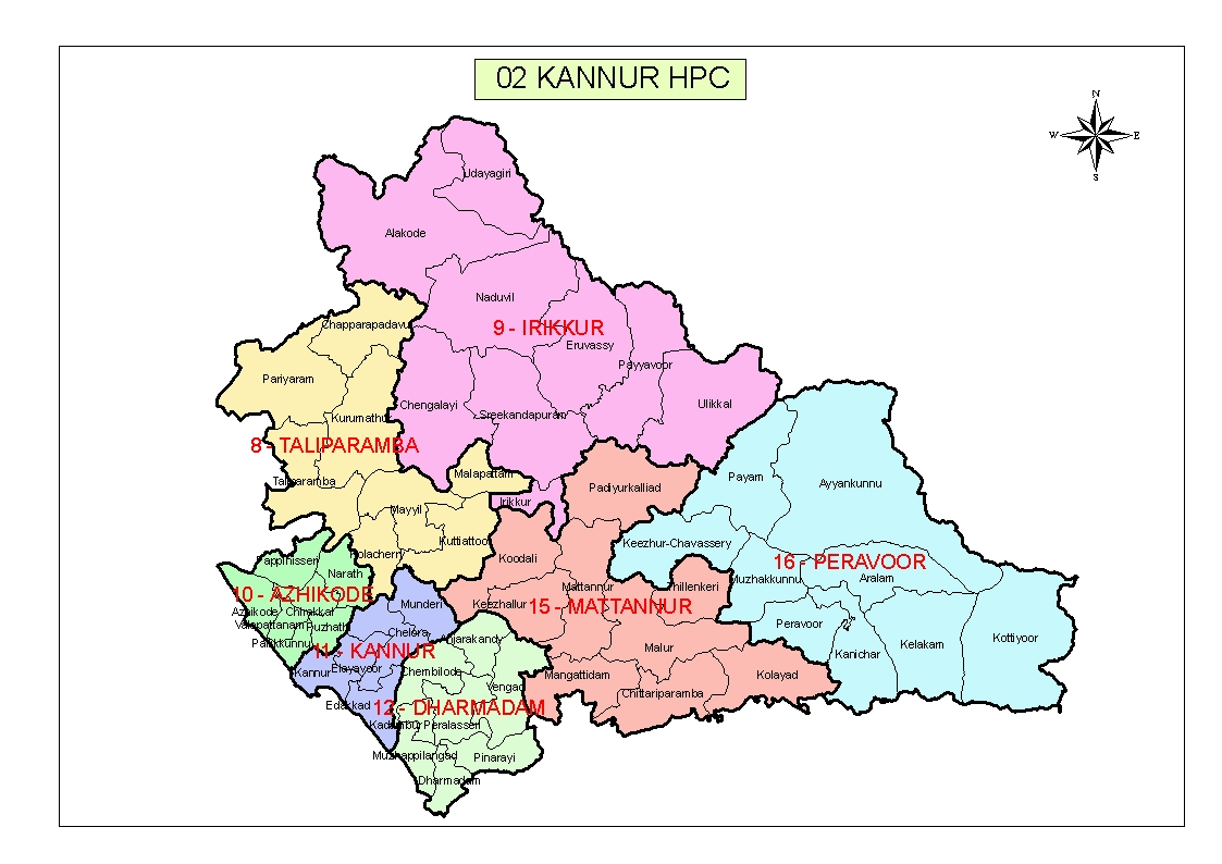 Chief Electoral Officer Kerala - Kannur map