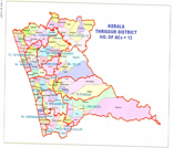 Map containing lac of THRISSUR district