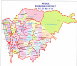 This is the map showing ernakulam district