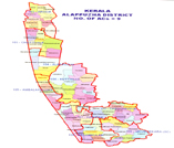 Map containing lac of ALAPPUZHA district
