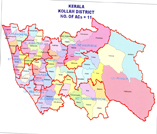 Map containing lac of KOLLAM district